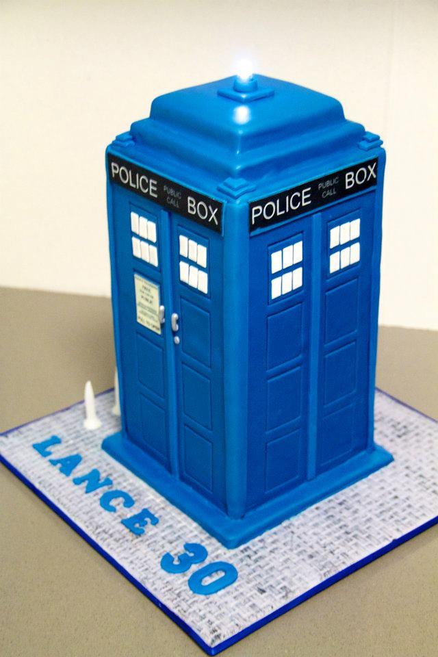 Tardis Birthday Cake Template
