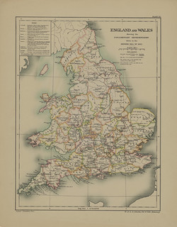 Section XXIII Map page of Parliamentary Representation of England and Wales Down to 1832 from Part III of Historical atlas of modern Europe from the decline of the Roman empire : comprising also maps of parts of Asia and of the New world | by uconnlibrariesmagic