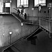 stairways and three silhouettes // elbtunnel, hamburg