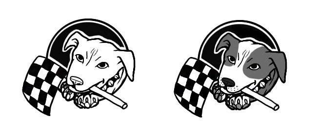 we be haulin pitbull rescue logo illustration logo