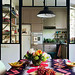 Art & Decoration {eclectic vintage bohemian industrial modern kitchen / dining room with ikat textiles}