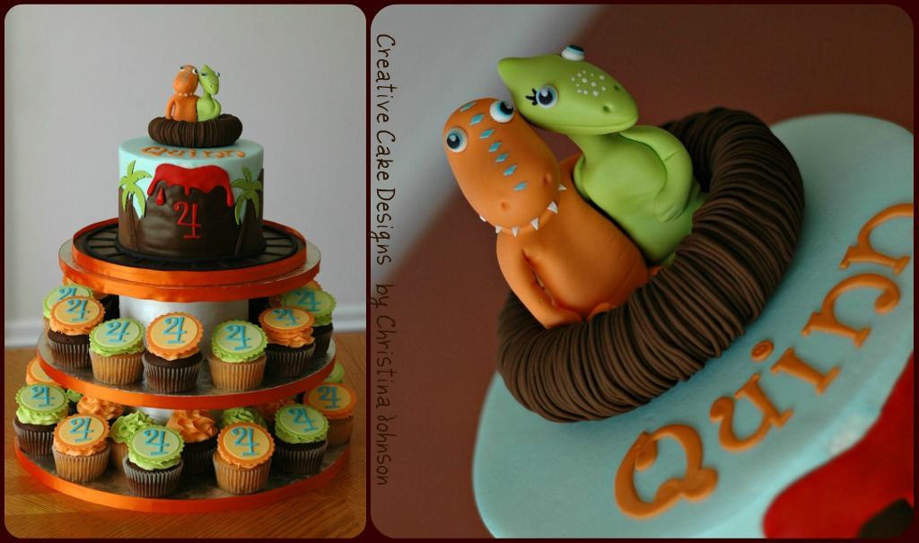 Dinosaur Train Edible Cake Image