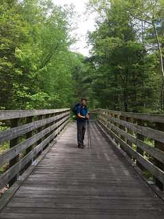 Me on the Virginia Creeper Teail (the A.T. shares trails for a bit)