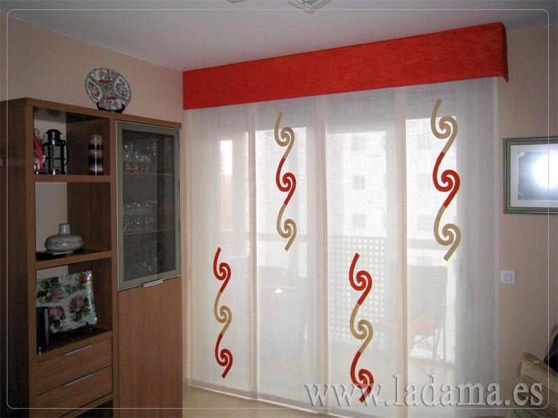 Decoraci n para salones modernos cortinas paneles japone for Cortinas plateadas salon