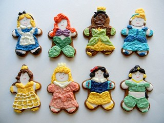 disney princess gingerbread cookies | by sugarswings