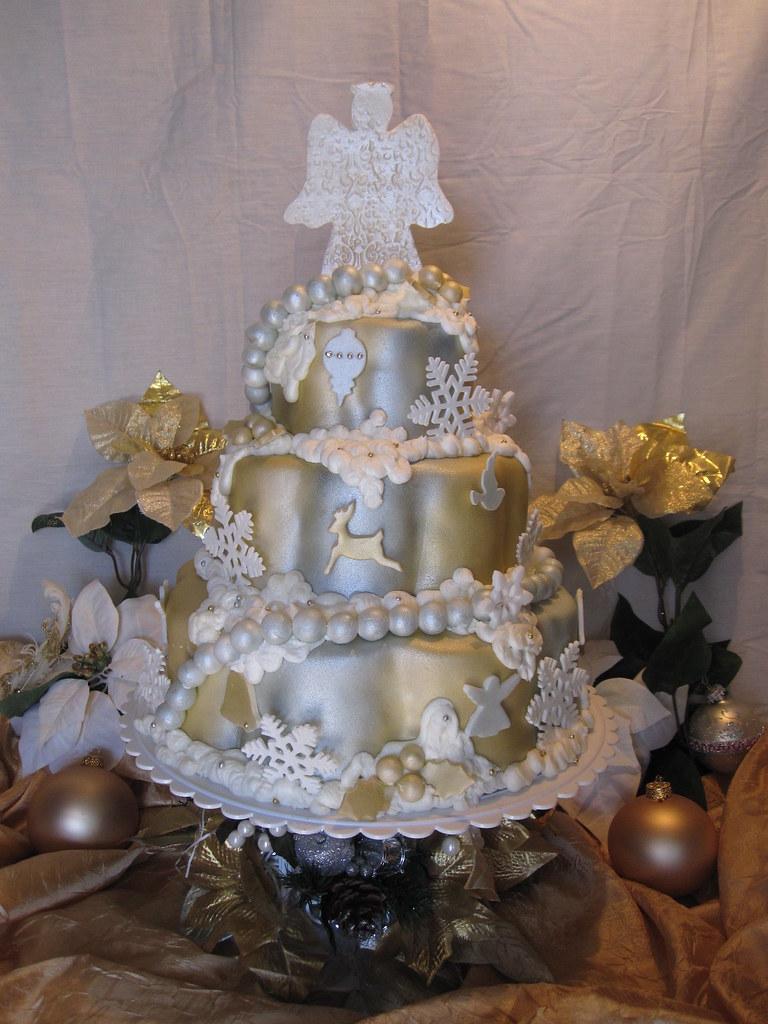 Elegant Christmas Tree Cake Charley And The Cake Factory