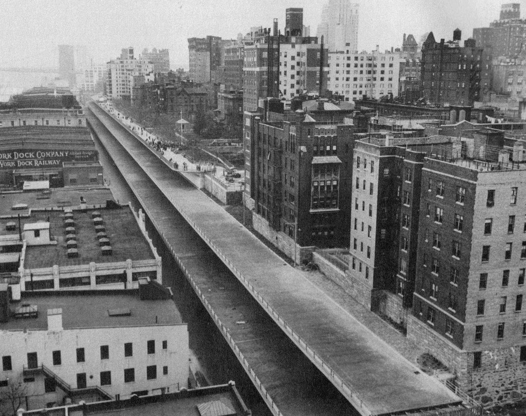 An Uncompleted Brooklyn Queens Expressway With People On T