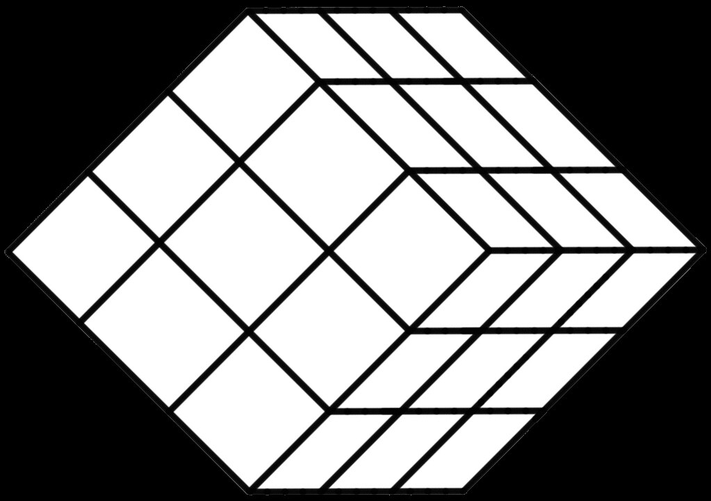 White Tilted 27-Section Rubik'S Cube Template | White Tilted… | Flickr