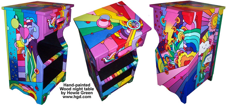 pop art furniture nightstand table this is a fun nightstan flickr. Black Bedroom Furniture Sets. Home Design Ideas