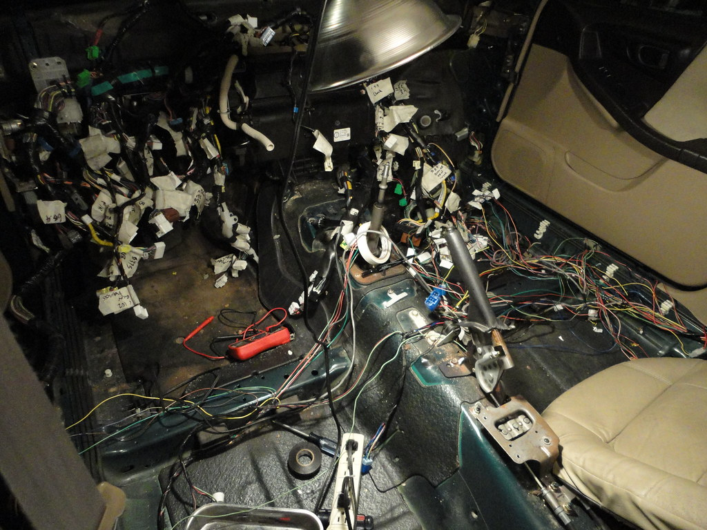 Subaru Bulkhead Wiring Harness : Wiring here is the mess i a making with