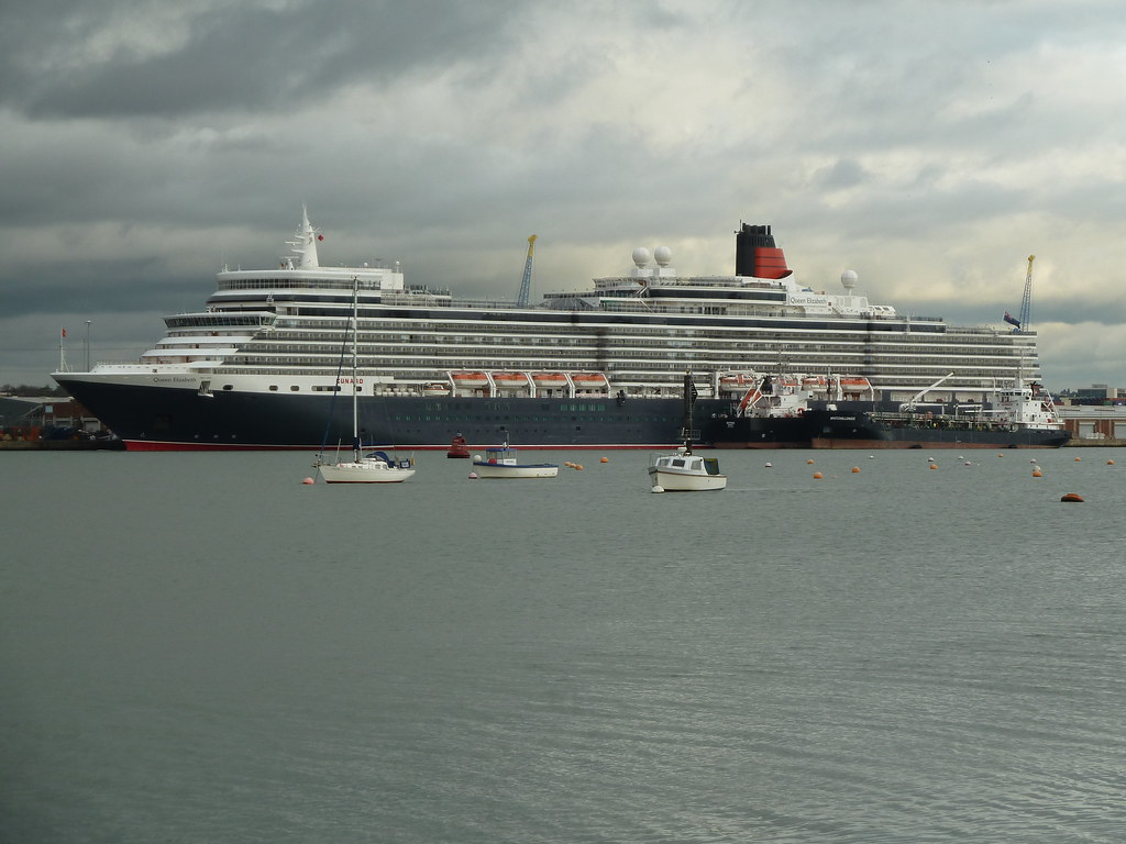 Queen Elizabeth - Berthed at Southampton
