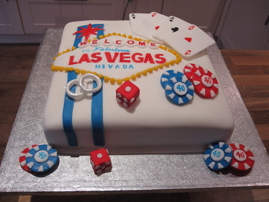 Las Vegas 40th Birthday And Wedding Cake Maggieannawatson Flickr
