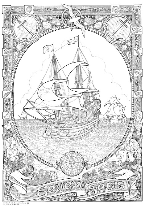 Doodlenation giant colouring in poster seven seas flickr for Giant coloring pages for adults