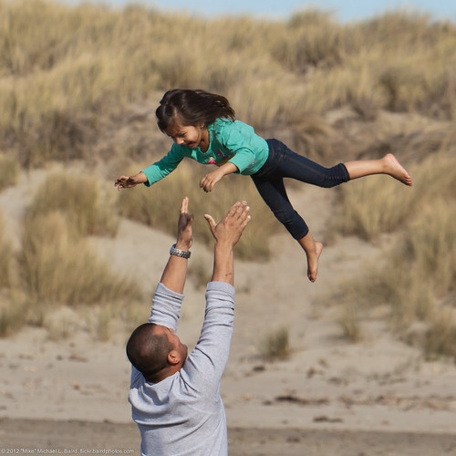 Love and Trust - Father tosses his confident daughter into to air accompanied by screams of delight. | by mikebaird