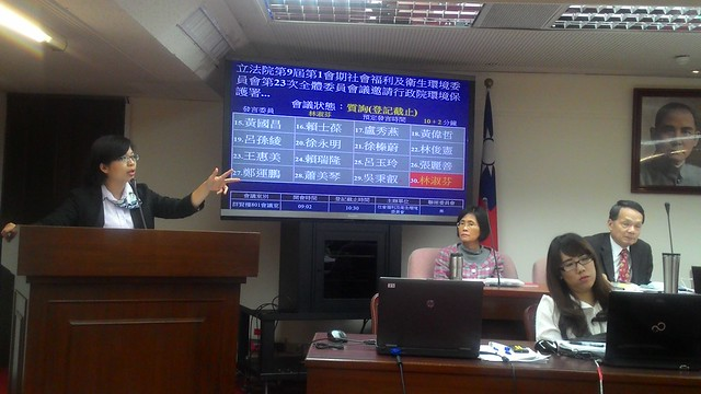 民進黨立委林淑芬重申委員會兩個要求:堅持全部浮揚、兩個月內颱風季前處理完成。攝影:林倩如。