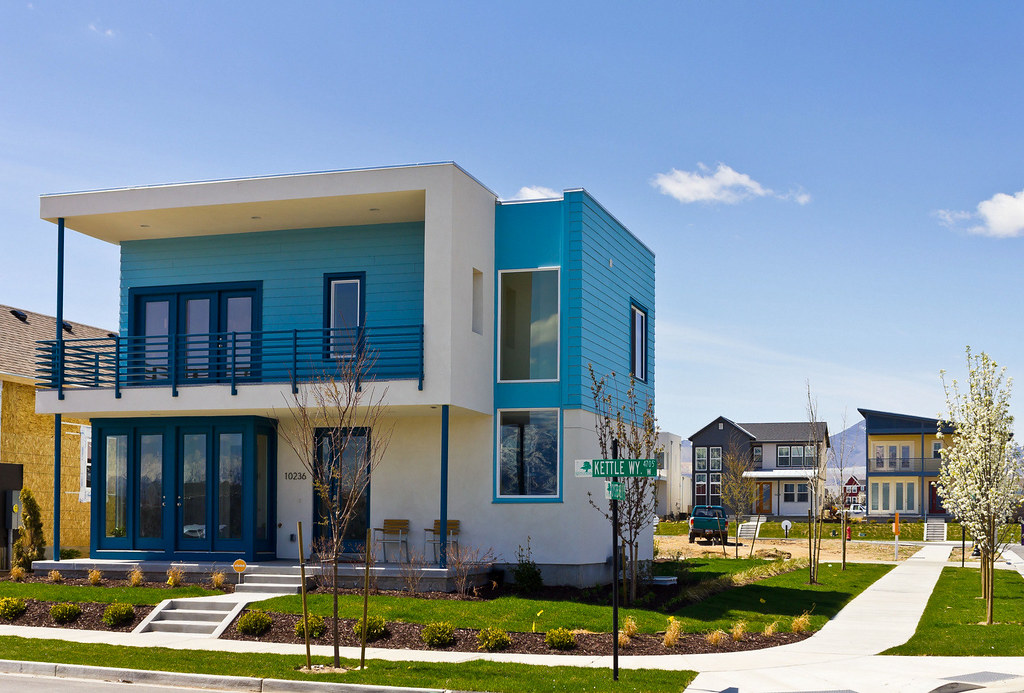 Blue Modern House New Solaris Home In Daybreak Utah 39 S
