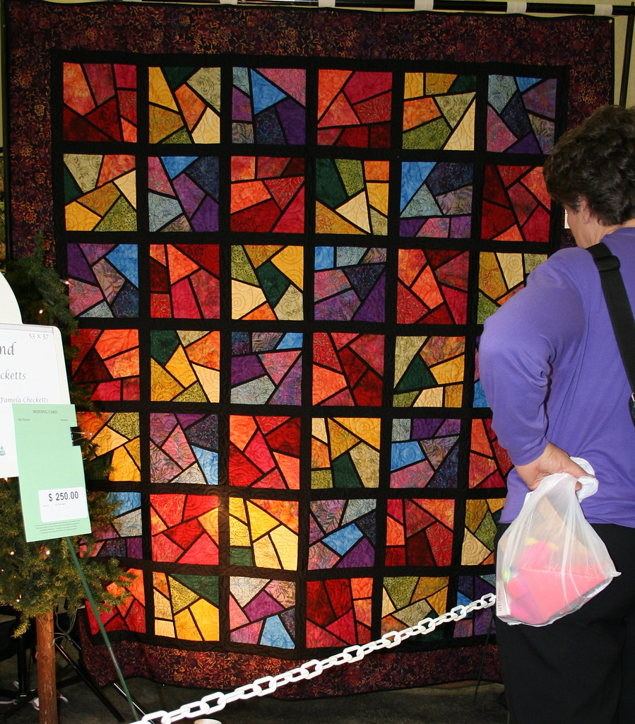 Shattered Stained Glass Quilt Shattered Quilted By