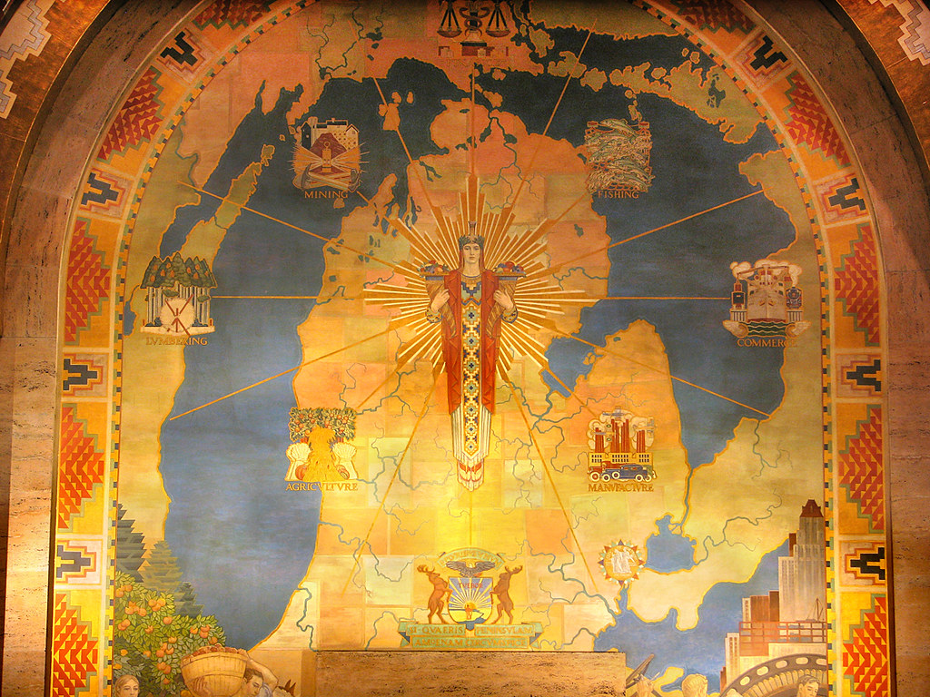 Michigan Mural | Painted in the late 1920s by Ezra Winter ...