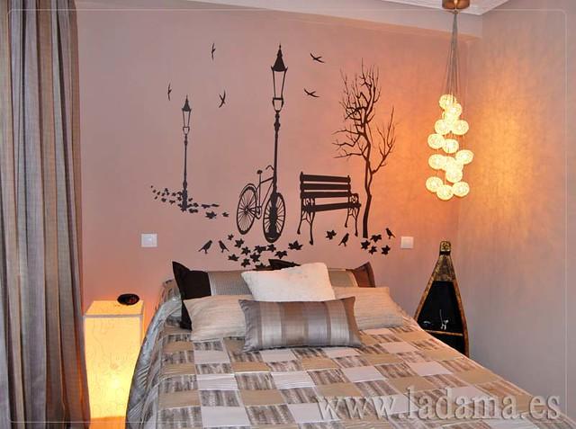 Decoraci n para dormitorios modernos cortinas en barra for Cortinas dormitorio moderno