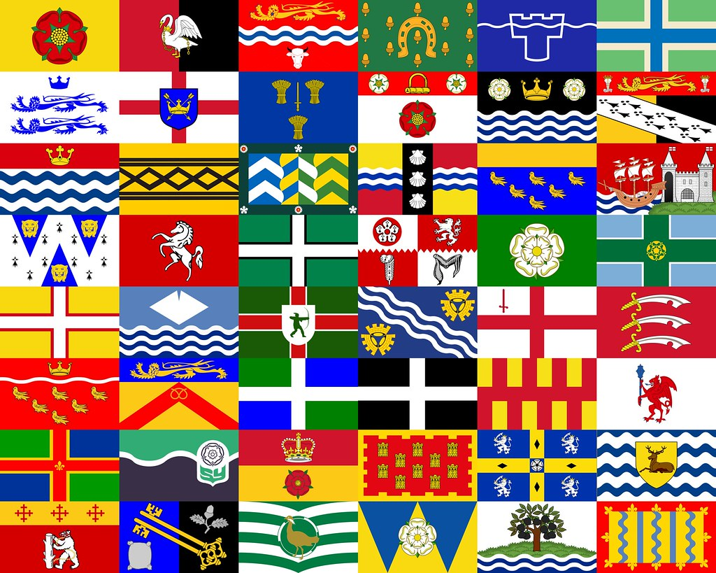 the county flags of england the county flags of england c u2026 flickr