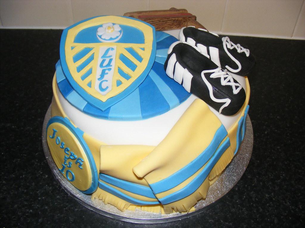 Leeds United Birthday Cake