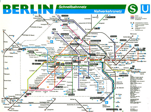 Berlin s Bahn u Bahn Netz Berlin S-bahn And U-bahn