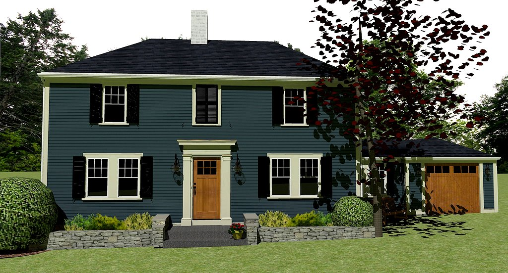 House mock up google sketchup jennifer s k flickr for Blue siding house