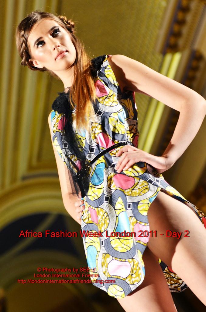 London Fashion Week  Bald Black Model