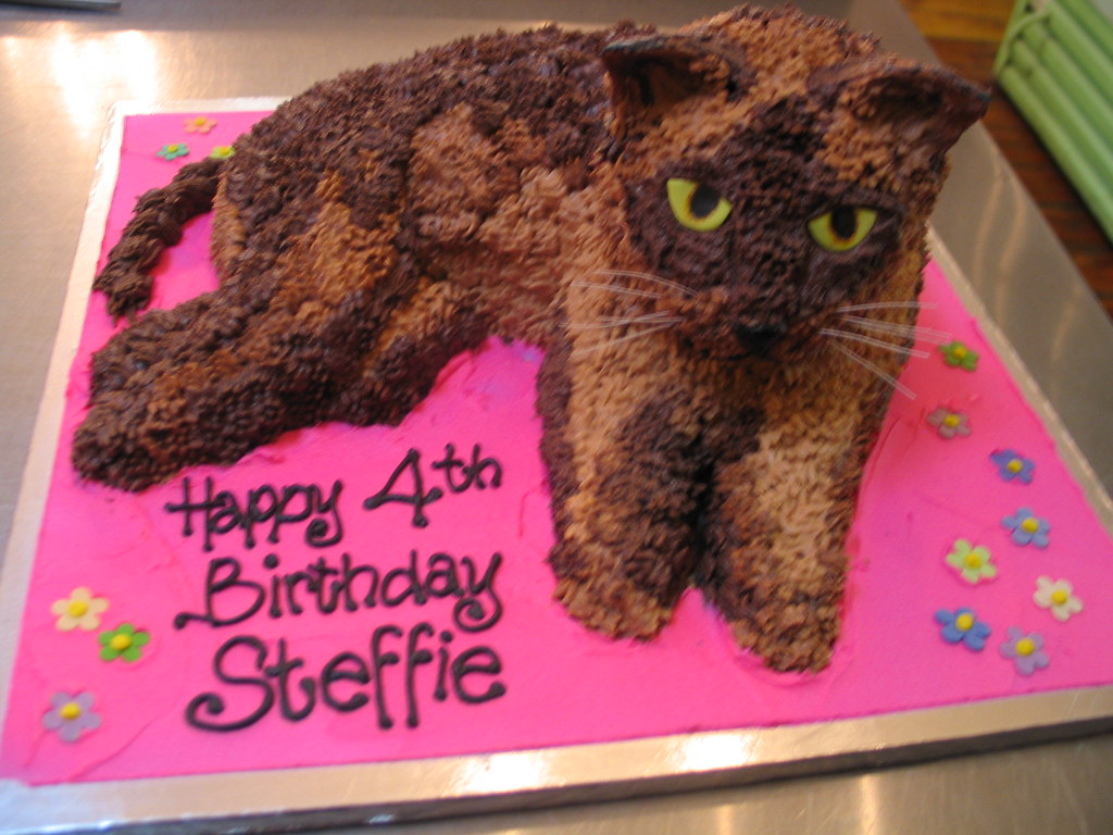 how to make a cat shaped birthday cake