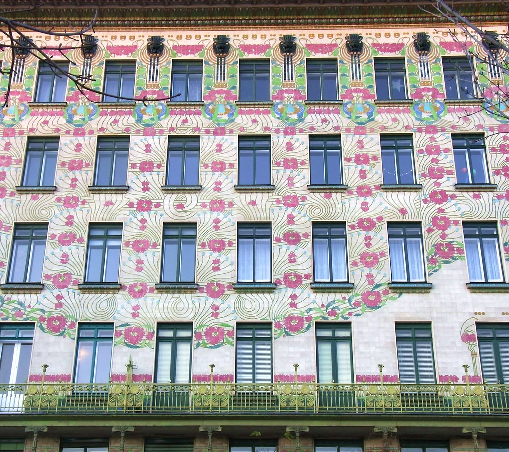 Majolikahaus Apartment Block Designed By Otto Wagner In