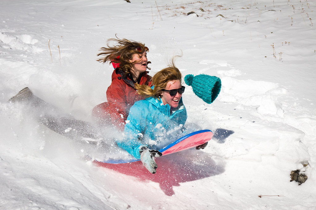 Alpine Sledding Sledding Near Francies Cabin Outside Of