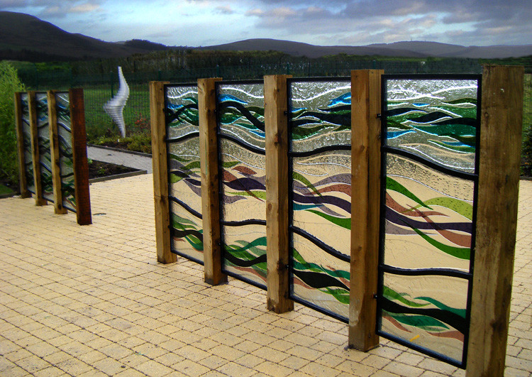 Fused Glass Garden Screen Stonehouse South Lanarkshire Sco
