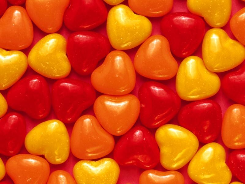free hearts candy wallpaper - free valentine's day wallpap… | flickr, Ideas