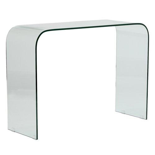Mesa de recibidor de cristal templado 110 x 40 x 80 cms - Mesa de recibidor ...