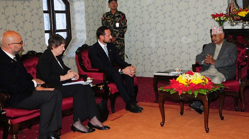 Helen Clark and Goodwill Ambassador Crown Prince Haakon in Nepal | by United Nations Development Programme