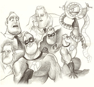 Mr. Incredible Character Sketches | by monkeyworks illustration