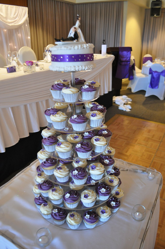 Purple And White Wedding Cupcakes Vanilla Vanilla