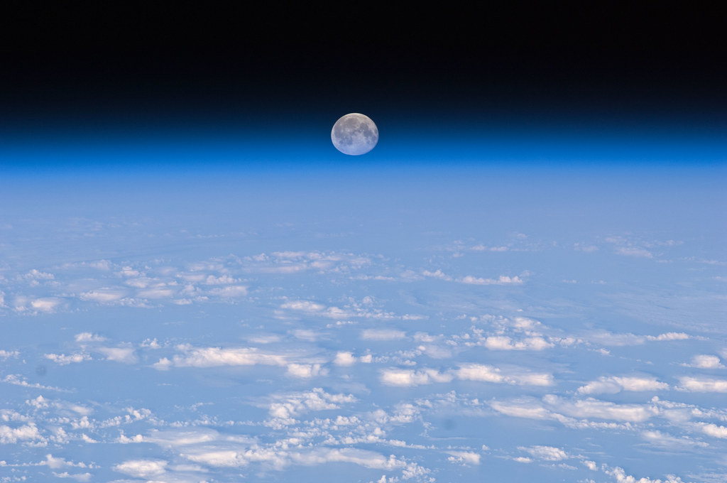 Full Moon Over Earth (NASA, International Space Station, 1 ...