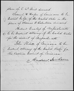 Message of President Andrew Jackson nominating his cabinet, 03/06/1829 (page 2 of 2) | by The U.S. National Archives