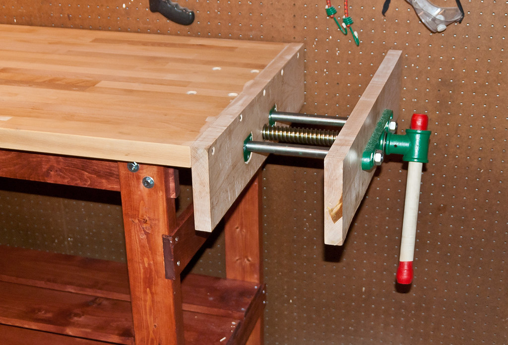 The Vise The Whole End Of The Bench Is A Wood Vise The