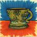 I drew you a decorative bronze mug of coffee