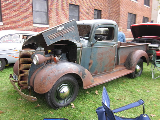 1938 Chevy Pickup | The body is untouched, but the engine's ...