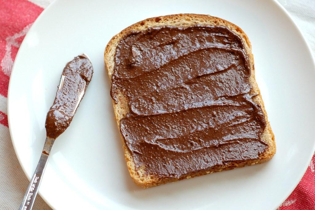 Homemade chocolate hazelnut spread on toast by Eve Fox, Garden of ...