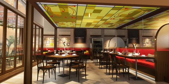 ตัวอย่างงานออกแบบร้านอาหาร Restaurant Perspective by WVK D ...