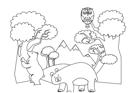 Forest Animals Coloring Book Pg 7 This Is Some Free
