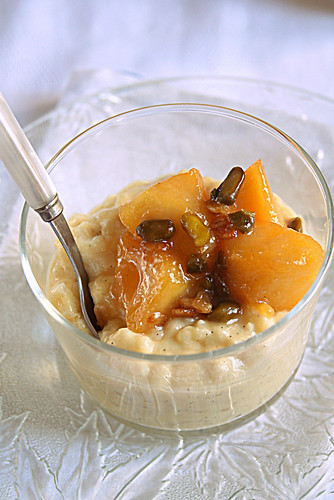 Honey Vanilla Rice Pudding with caramelized apples | by Le Petrin