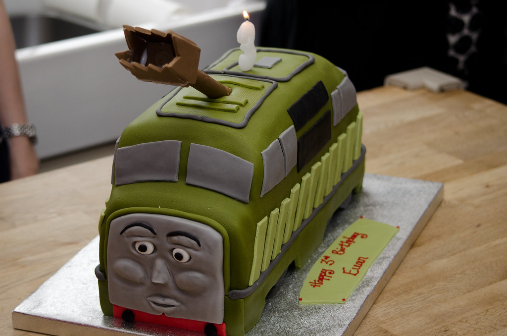 Diesel 10 Cake Made By My Wife For Our Son S 3rd