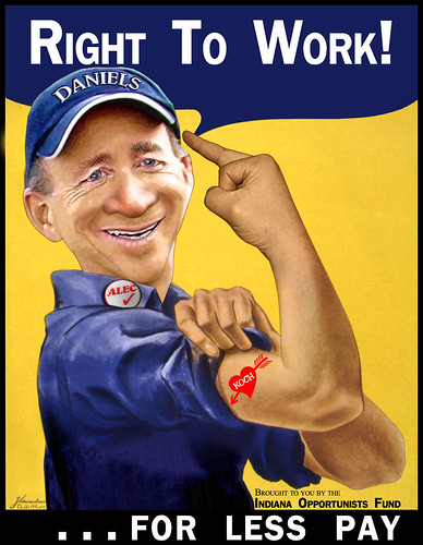 Mitch Daniels - Right to Work for Less | by DonkeyHotey