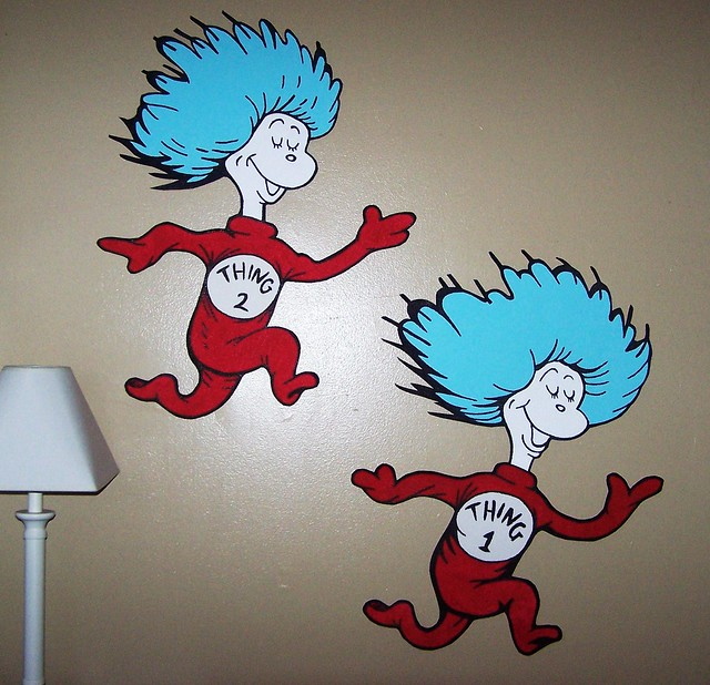Dr Seuss Dr. Suess Theme Wallpaper Wall paper Art Sticker Mural ...