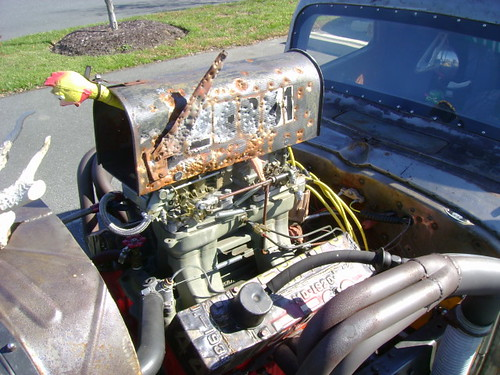 Built Rat Rod Air Cleaner : Chevy pickup rat rod the air cleaner is a mailbox